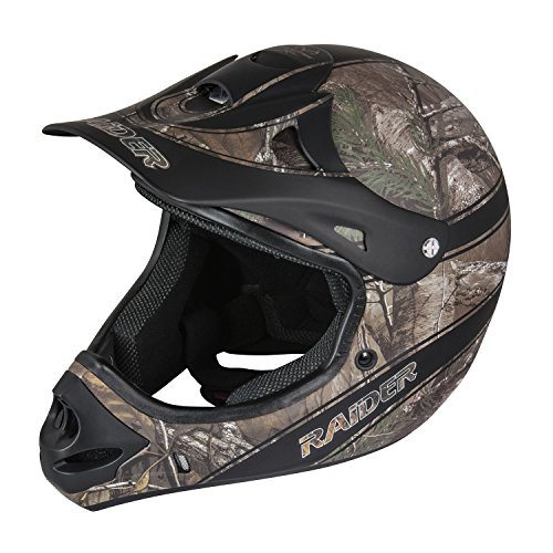 Raider Adult Ambush MX Off-Road Camouflage Helmet (Realtree Xtra, X-Large)
