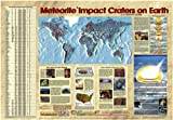 "American Educational Meteorites Impact Craters on Earth Map, 38-1/2"" Length x 27"" Width"