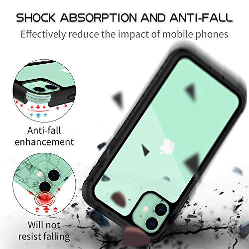 OTBBA iPhone 11 Case, Full-Body with Built-in Screen Protector Heavy Drop Protection Shock Absorption Cover Case…