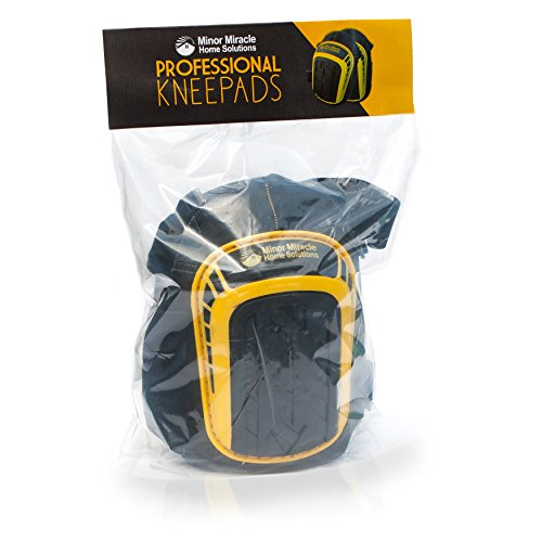 Professional Knee Pads with Layered Gel - Heavy Duty Foam Padding Kneepads - Cozy Gel Cushion Knee Pad - Strong Straps, Adjustable Clips - for Work, Cleaning, Gardening, Construction, Flooring by Minor Miracle Home Solutions (Image #5)