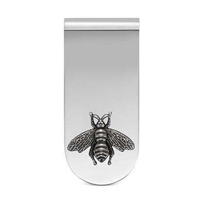 515a698400f Amazon.com  Gucci Men s Bee Money Clip Silver One Size  Jewelry