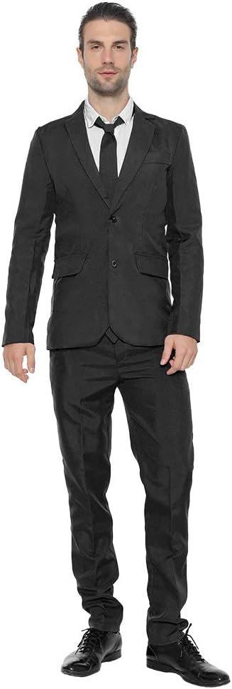 EraSpooky Tinta Unita Completo Blazer Uomo Tuta Festa Abito Include Giacca Pantaloni Cravatta