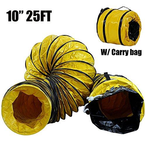 - MOUNTO 25FT PVC Flexible Duct Hosing for Exhaust Fan (10inch)