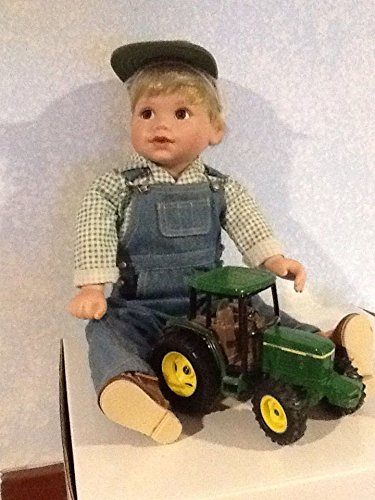 John Deere Johnny Danbury Mint Porcelain Collector Doll Tractor Mint -
