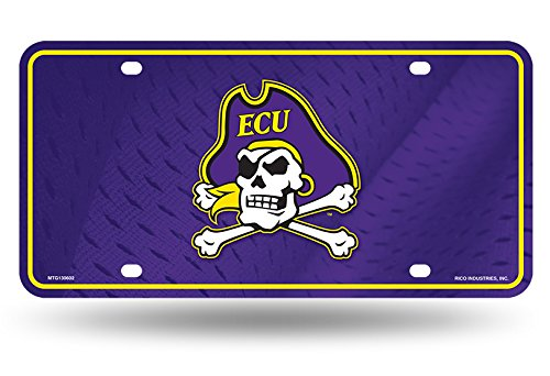 East Carolina Pirates ECU 130602 Metal Aluminum Novelty License Plate Tag University -