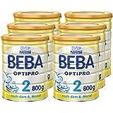 Nestlé BEBA OPTIPRO 2, Folgemilch ab dem 6. Monat, Baby-Nahrung als Pulver, im Anschluss an das Stillen, bei angemessener Beikost, 6er Pack (6 x 800g Dose)