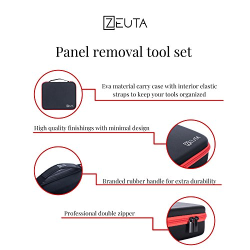 Door Panel Removal Tool Set with Premium Protective EVA Carry Case - Clip Removal Tool, Pliers and Pry Bar Set – Car Trim Removal Tool Kit - Automotive, Marine, Aircraft – 13 Pieces – By Zeuta by Zeuta (Image #6)