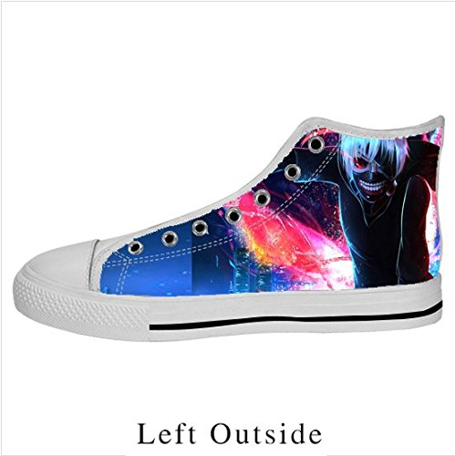 zmm Zapatillas de color blanco High Top Lienzo Fashion Custom Tokyo Ghouls Lienzo Zapatos, color Blanco, talla 43 EU: Amazon.es: Zapatos y complementos