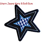 Iron-on patches embroidered applique by TrickyBoo - Star Jeans Diamonds 9.5X9.5Cm Decorative Novelty Letter Fabric Cotton Novelty Iron On Patches