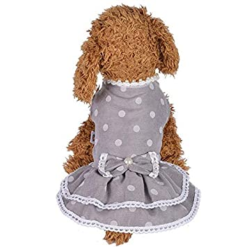 Buy Veena Spring And Summer Pearl Dot Skirt Dog Costumes Pet Clothes
