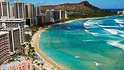 Amazon Com Jigsaw 1000piece Diy Waikiki Beach Hawaii Summer