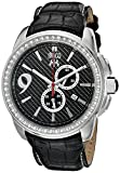 Jivago Men's JV1537 Gliese Black Leather Watch