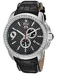 Jivago Men's JV1537 Gliese Black Leather Watch