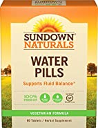 Sundown Naturals® Natural Herbal Water Pills, 60 Tablets (Pack Of 3)