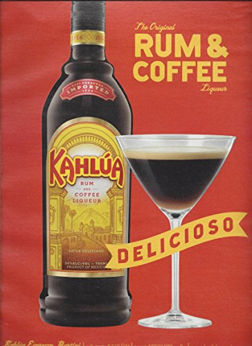 print-ad-for-2012-kahlua-alcohol-rum-coffee-delicioso-red-background
