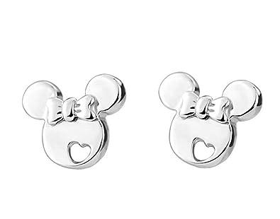 findout element sterling silver amethyst dolphin butterfly button earrings , for women girls children (earrings 2)