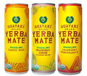 Guayaki Yerba Mate Sparkling - Variety Pack - Classic Gold, Cranberry Pomegranate, Grapefruit Ginger - 12fl.oz. (Pack of 9)