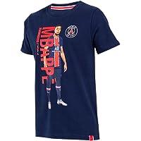 PSG - Camiseta infantil oficial del Paris Saint-Germain 'Kylian Mbappé' - Azul, Rojo