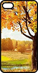 Fall Tree In The Country Black Rubber Case for Apple iPhone 5c