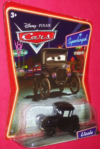 Disney Pixar Cars Lizzie Supercharged Background Card Edition 1:55 scale Mattel Car