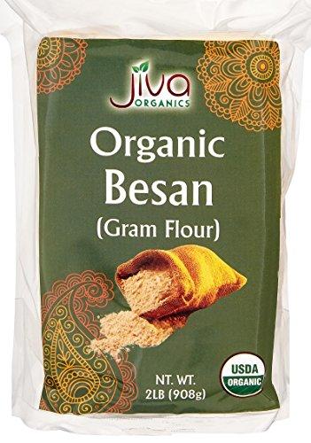 (Jiva USDA Organic Besan (Chana Dal) Flour 2 Pound)