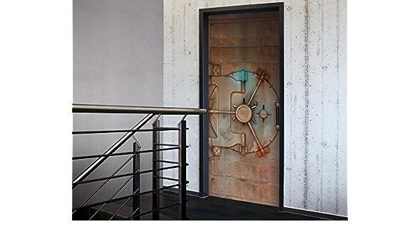 Puerta acorazada subterráneo | Marrón y plata: Amazon.es: Hogar
