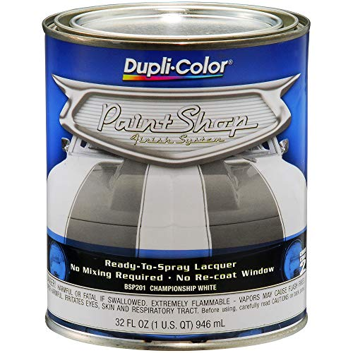 Dupli-Color BSP201 Championship White Paint Shop Finish System - 32 oz, Single