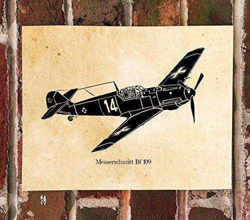 KillerBeeMoto: Messerschmitt Bf 109 Fighter Aircraft Print (Aircraft 109 Bf)