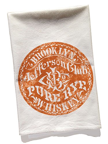 Re:view Brooklyn Jefferson Club Pure Rye Whiskey Vintage Graphic Flour Sack Towel (Made In (Jefferson Towel)