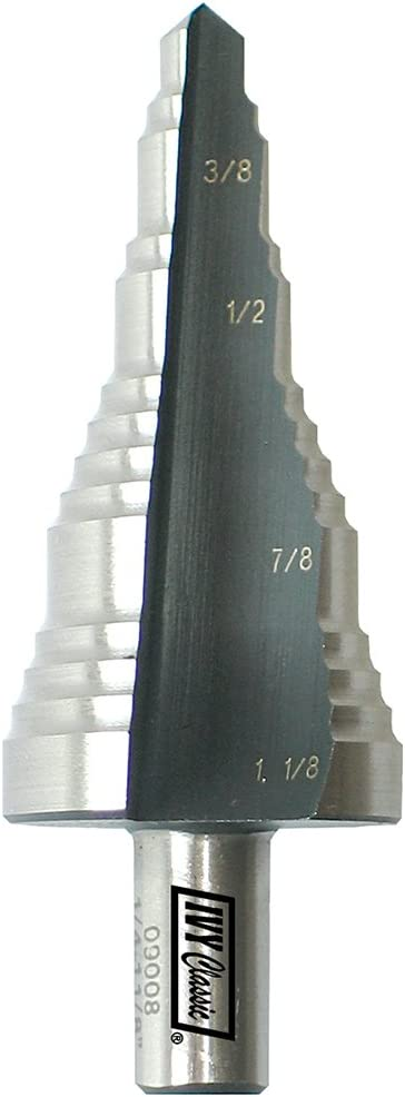 1//Card IVY Classic 09008 5-Hole Electricians Step Drill Bit 1//4-1-1//8-Inch