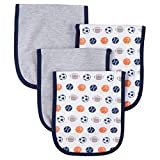 Gerber Unisex-Baby 2-Ply terry lined burp cloths (Sports Navy)