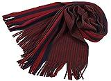Rotfuchs Scarf - knitted, red blue 100% wool (Merino)
