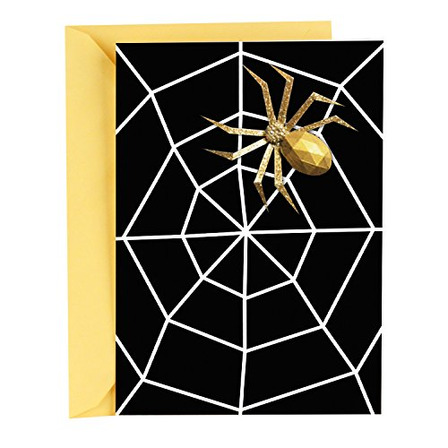 Hallmark Signature Halloween Card (Removable Spider Pin) -