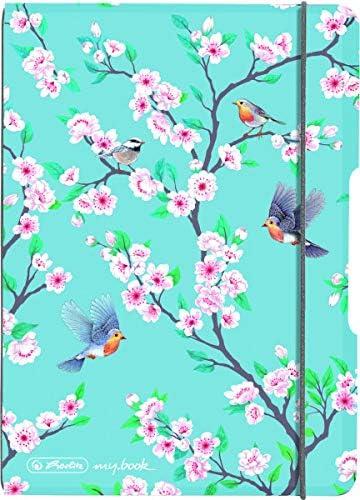 Notizheft flex A6 Ladylike Birds 40 Blatt kariert 1 St/ück
