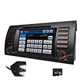 XTRONS 7 Inch HD Digital Touch Screen Car Stereo Radio In-Dash DVD Player with GPS CANbus Screen Mirroring Function for BMW E53 X5 Navigation Map Card & Reversing Camera Included