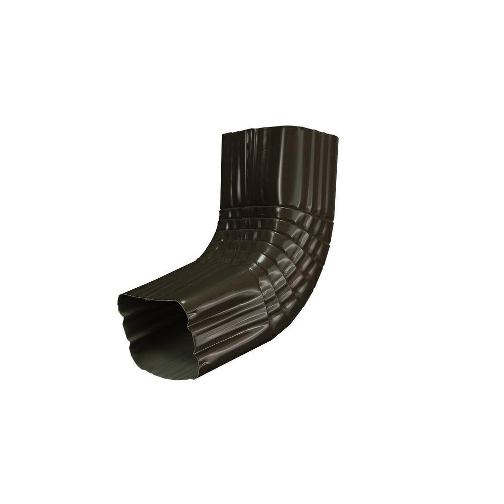 Amerimax Home Products 3 in. x 4 in. Dark Bronze Aluminum Downspout A Elbow