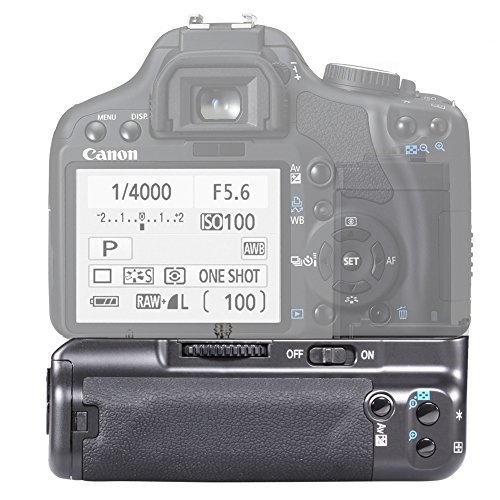 NEEWER Professional Battery Grip BG-E5 Replacement Works with LP-E5 Battery + AA Battery Grip Holder + Li-ion Battery Grip Holder for Canon EOS 450D 500D 1000D Rebel XS XSi T1i