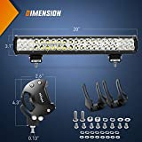 LED Light Bar Nilight 20 Inch 126w LED Work Light