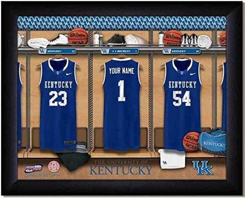(Kentucky Wildcats Basketball Team Locker Room Personalized Jersey Officially Licensed NCAA Sports Photo 11 x 14 Print)