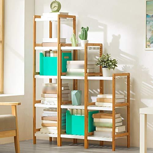 (QiXian Shelves Organizer for Books Bookcase Bookshelf Ends Pure Wood Floorstanding Multifunction Shelf Storage Rack Simple Modern Contemporary Strong Sturdy, 5-Tier)