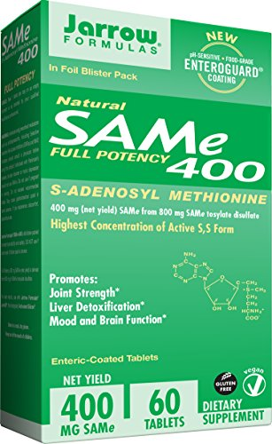 (Jarrow Formulas SAM-e, Promotes Joint Strength and Mood, 400 mg, 60 Enteric-Coated Tabs)