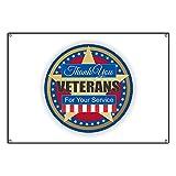 CafePress Thank You Veterans - Vinyl Banner, 44''x30'' Hanging Sign, Indoor/Outdoor