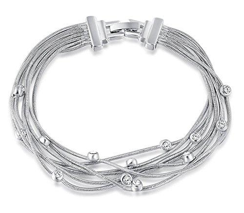 [Austrian crystals platinum silk white diamond bracelet] (Hit Girl Costume Ideas)