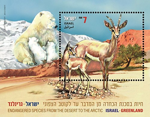 Israel Stamps Israel Greenland 2013 Collection Album Philately bear gazelle MNH (Stamp Greenland)