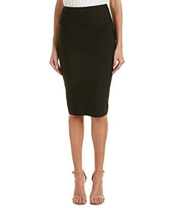 83042b6638 Gracia Bandage Midi Skirt (Large, Black) at Amazon Women's Clothing store: