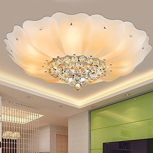 BLYC- Kristall-Deckenleuchte E27 LED Licht die Wohnzimmer warmes und romantisches Schlafzimmer Lampe kreatives Studium Lampe 700mm