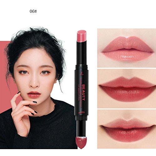 Hunputa Lipstick Korean Dual Ended Long Lasting Waterproof Lip Pencil Jelly Lip Pen Moisturizing Matte Lipstick Lip Gloss Beauty Makeup Tool  E