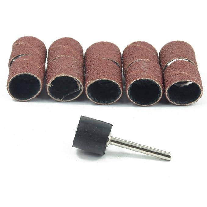 51pcs Rotary Tools Drum Sanding Kit Sander Groove 120 Grit Abrasive for Dremel