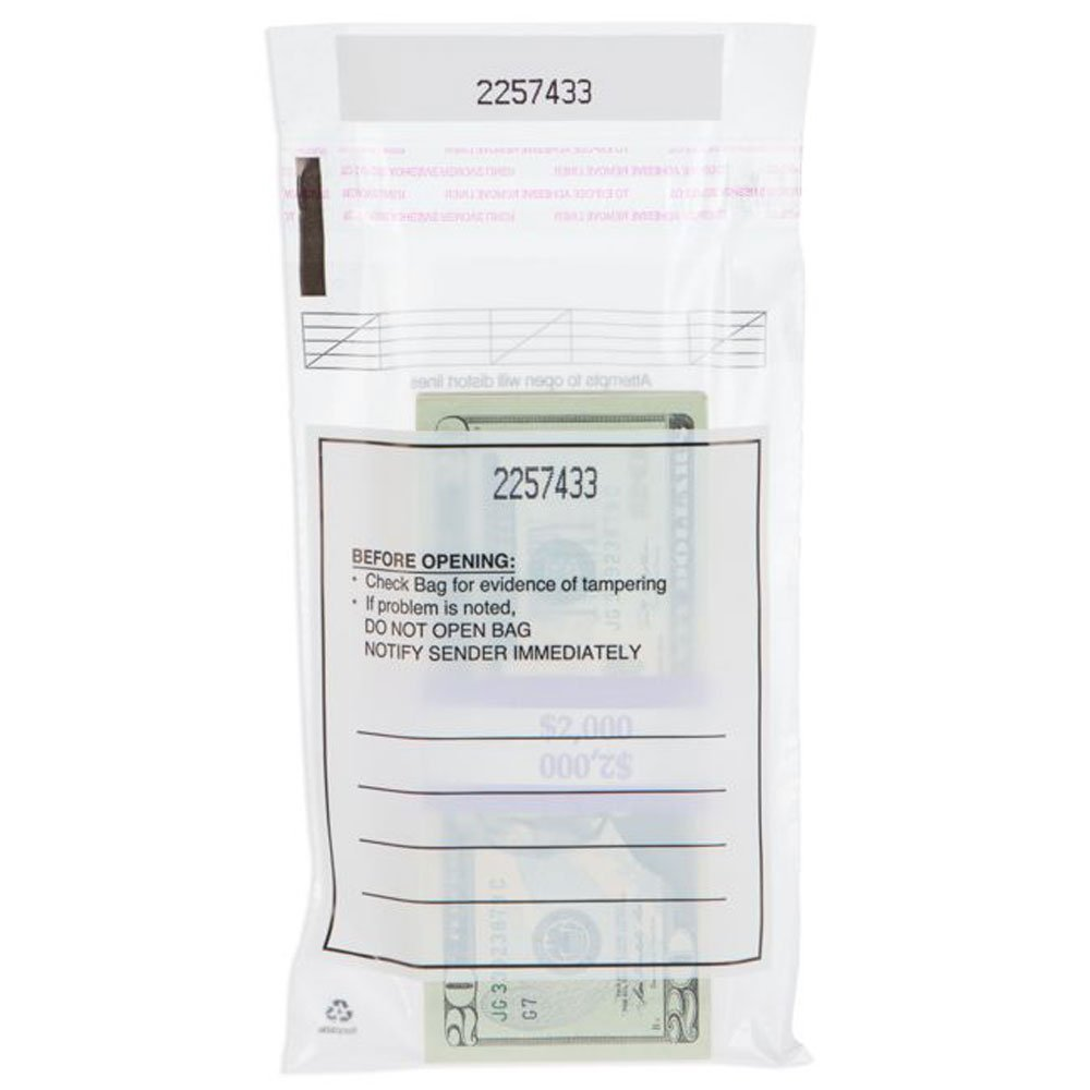 Currency Strap Bags - 5 x 7 1/2 - Case of 1000 One Strap Bags by BankSupplies