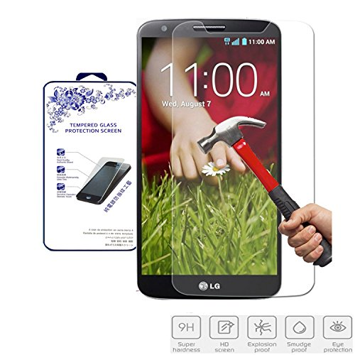 (Nacodex® Tempered Glass Screen Protector for Lg G2 Vs980 4g LTE - Verizon / D802 / Ls980 - Sprint / D800 - At&t Android Smartphone [9h Hardness✔] [Real Explosion-proof✔] [0.3mm Thin✔] [ Fast Shipping✔] [ W/tracking No. ✔])